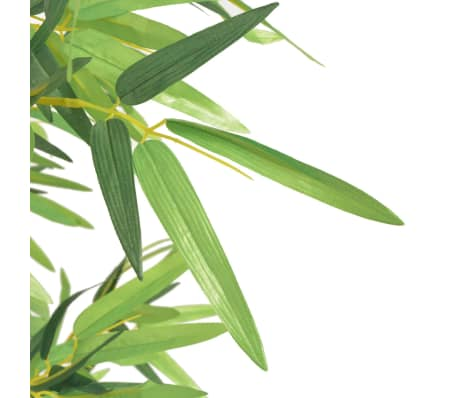 "vidaXL Artificial Bamboo Plant with Pot 47.2"" Green[2/2]"