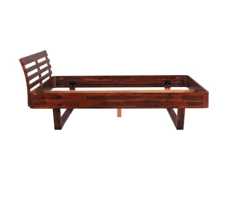 vidaXL Bed Frame Solid Acacia Wood King Size[5/10]