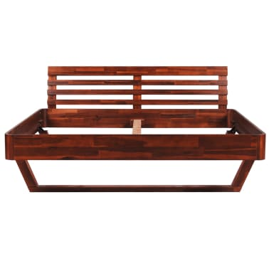vidaXL Bed Frame Solid Acacia Wood King Size[4/10]