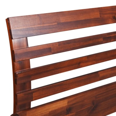 vidaXL Bed Frame Solid Acacia Wood King Size[6/10]