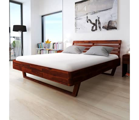 vidaXL Bed Frame Solid Acacia Wood King Size[1/10]