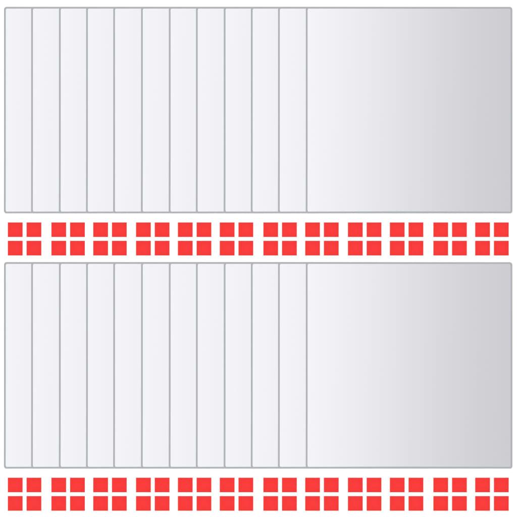 vidaXL Πλακάκια Καθρέφτη Τετράγωνα 24 τεμ. από Γυαλί