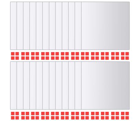 vidaXL Spegelplattor 24 st fyrkantig spegelglas[2/7]