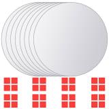 vidaXL Zrkadlové kachličky 8 ks, okrúhle, sklenené