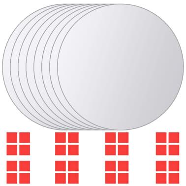 vidaXL Plăci de oglindă rotunde, sticlă, 8 buc[1/5]