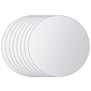 vidaXL Plăci de oglindă rotunde, sticlă, 8 buc[2/5]