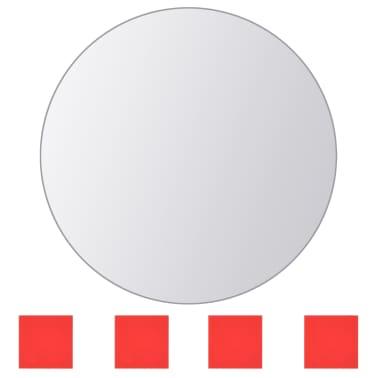 vidaXL Plăci de oglindă rotunde, sticlă, 8 buc[3/5]