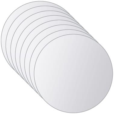 vidaXL Plăci de oglindă rotunde, sticlă, 8 buc[4/5]