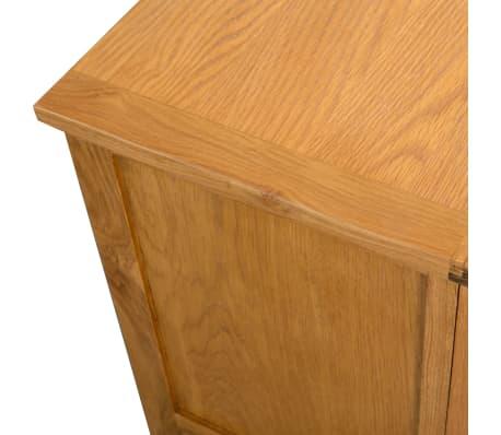 vidaXL TV spintelė, 90x35x48cm, ąžuolo medienos masyvas[5/7]
