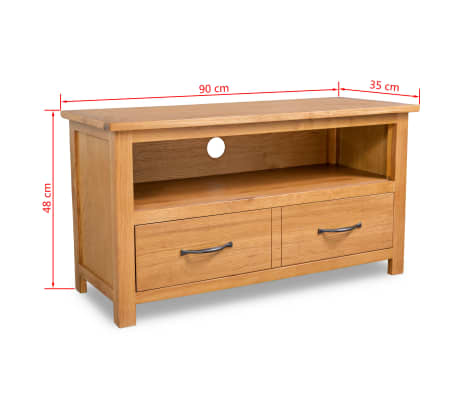 vidaxl tv schrank eiche 90 x 35 x 48 cm g nstig kaufen. Black Bedroom Furniture Sets. Home Design Ideas