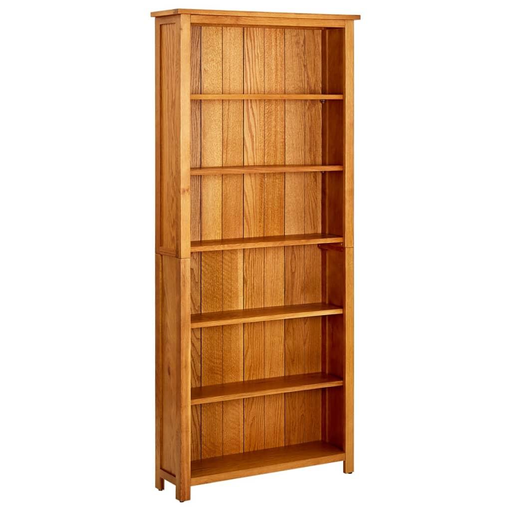 vidaXL Regał na książki z 6 półkami, 80 x 22,5 x 180 cm, drewno dębowe