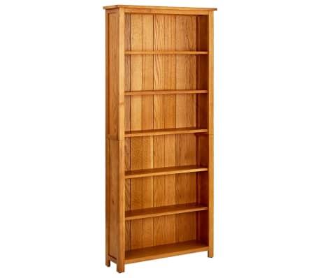 vidaXL Knygų spinta su 6 lentynomis, 80x22,5x180cm, ąžuolo med. mas.[1/5]