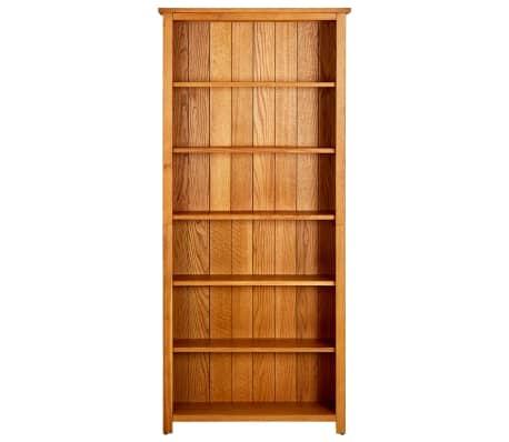 vidaXL Knygų spinta su 6 lentynomis, 80x22,5x180cm, ąžuolo med. mas.[2/5]