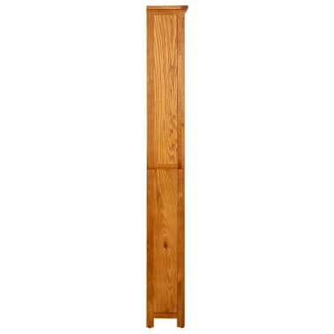 vidaXL Knygų spinta su 6 lentynomis, 80x22,5x180cm, ąžuolo med. mas.[3/5]