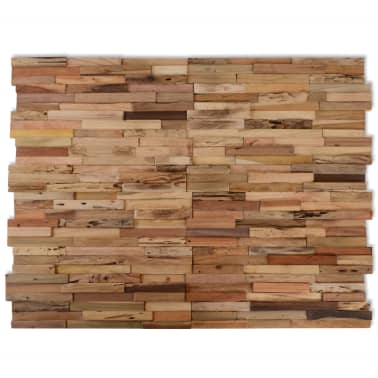vidaXL 10 pcs Wall Cladding Panels 1 m² Recycled Teak[1/9]