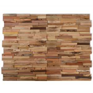 vidaXL 10 pcs Wall Cladding Panels 1 m² Recycled Teak