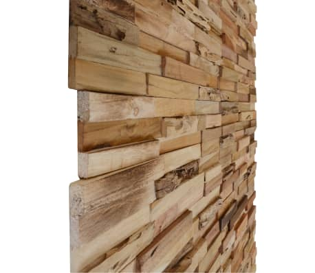 vidaXL 10 pcs Wall Cladding Panels 1 m² Recycled Teak[3/9]