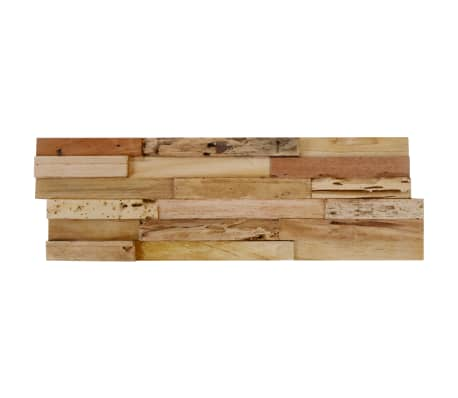 vidaXL 10 pcs Wall Cladding Panels 1 m² Recycled Teak[6/9]