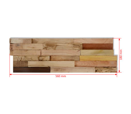 vidaXL 10 pcs Wall Cladding Panels 1 m² Recycled Teak[9/9]