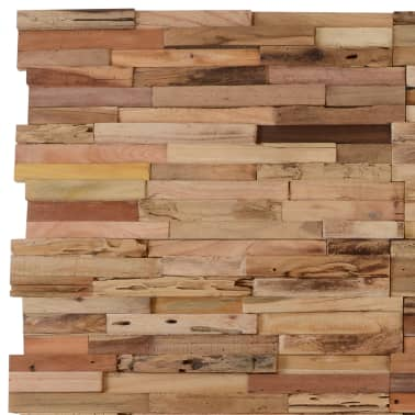 vidaXL 10 pcs Wall Cladding Panels 1 m² Recycled Teak[2/9]