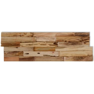vidaXL 10 pcs Wall Cladding Panels 1 m² Recycled Teak[4/9]