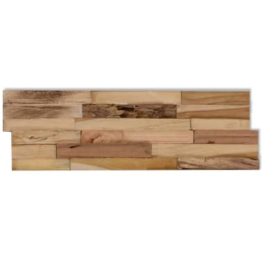vidaXL 10 pcs Wall Cladding Panels 1 m² Recycled Teak[8/9]