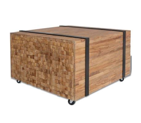 vidaXL Šoninis staliukas, tikmedis, 60x60x38cm[1/6]