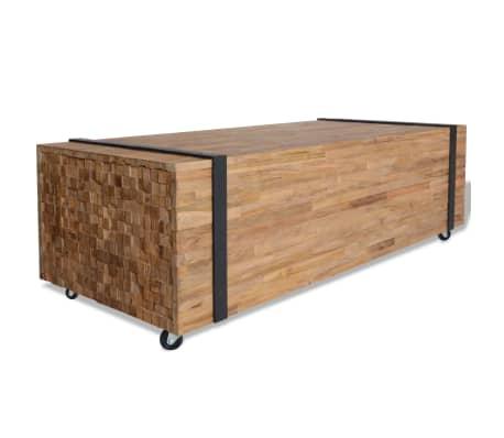 vidaXL Kavos staliukas, tikmedis, 110x45x35cm[1/6]