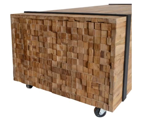 vidaXL Kavos staliukas, tikmedis, 110x45x35cm[3/6]