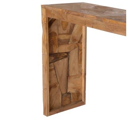 vidaXL Mesa consola em madeira teca recuperada 120x35x76 cm[3/6]
