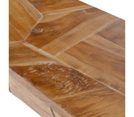 vidaXL Mesa consola em madeira teca recuperada 120x35x76 cm[5/6]