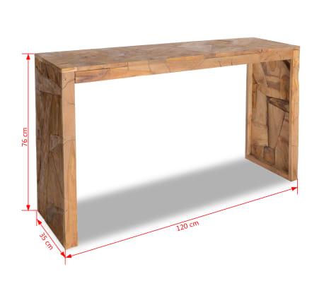 vidaXL Mesa consola em madeira teca recuperada 120x35x76 cm[6/6]
