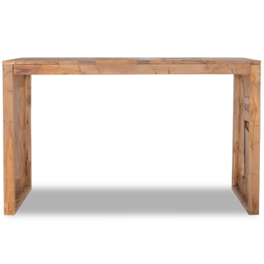 vidaXL Mesa consola em madeira teca recuperada 120x35x76 cm[2/6]