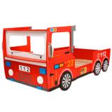 vidaXL Dětská postel ve tvaru hasičského auta 200x90 cm červená