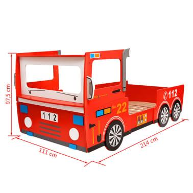 acheter vidaxl lit camion de pompier pour enfants 200 x 90. Black Bedroom Furniture Sets. Home Design Ideas