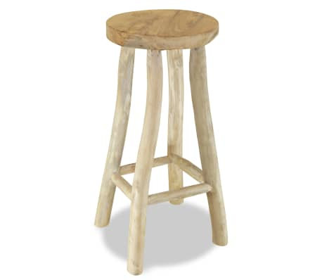 vidaXL Bar Stool Solid Teak Wood
