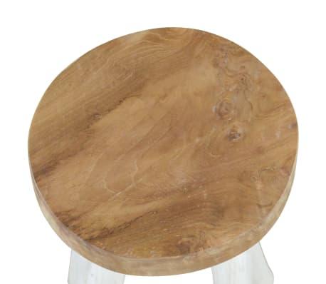 vidaXL Barstol teak brun och vit[3/4]