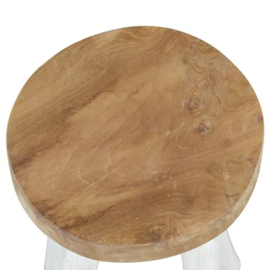 vidaXL Bar Stool Solid Teak Wood[3/4]