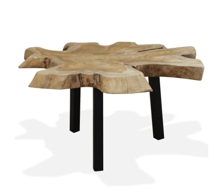 vidaXL Coffee Table Genuine Teak 80x70x38 cm