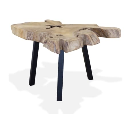 vidaXL Kavos staliukas, tikras tikmedis, 80x70x38cm[4/10]