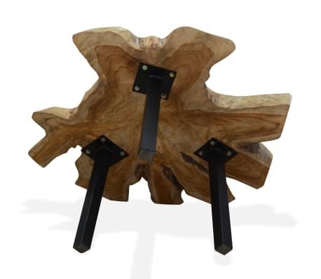 vidaXL Kavos staliukas, tikras tikmedis, 80x70x38cm[7/10]