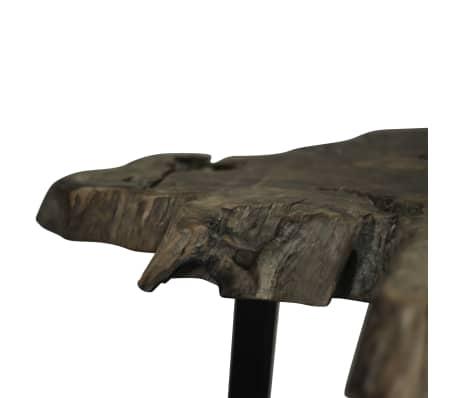 vidaXL Kavos staliukas, tikras tikmedis, 80x70x38cm[8/10]