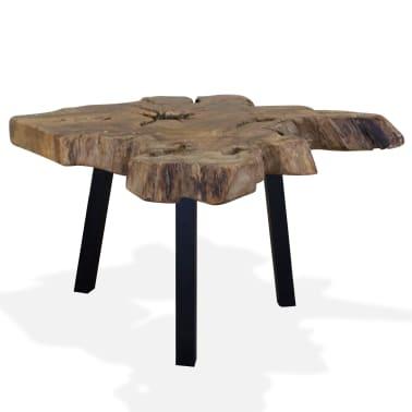 vidaXL Kavos staliukas, tikras tikmedis, 80x70x38cm[2/10]