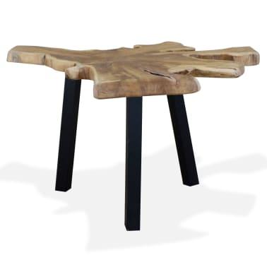 vidaXL Kavos staliukas, tikras tikmedis, 80x70x38cm[3/10]