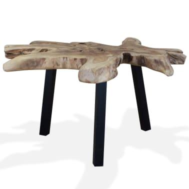 vidaXL Kavos staliukas, tikras tikmedis, 80x70x38cm[5/10]
