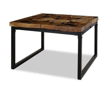 vidaXL Kavos staliukas, tikmedis ir derva, 60x60x40cm[2/11]