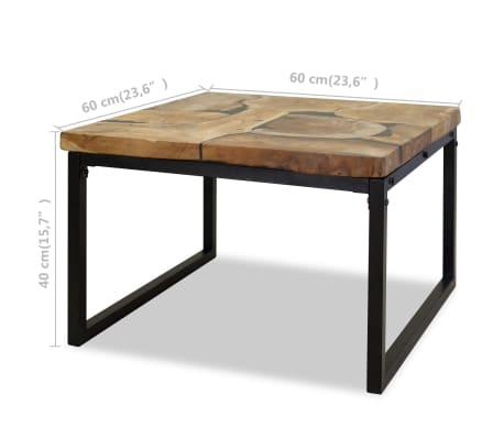 Tavolino Da Caff.Vidaxl Tavolino Da Caffe In Legno Di Teak E Resina 60x60x40 Cm