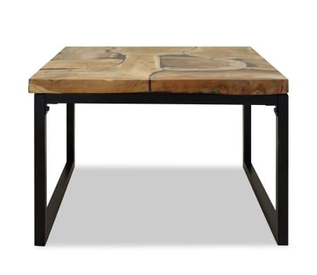 vidaXL Kavos staliukas, tikmedis ir derva, 60x60x40cm[6/11]