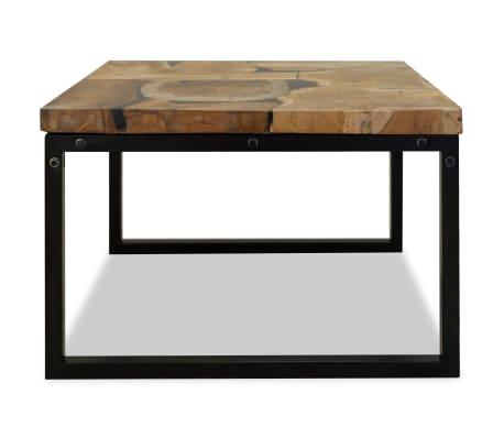 vidaXL Kavos staliukas, tikmedis ir derva, 60x60x40cm[7/11]