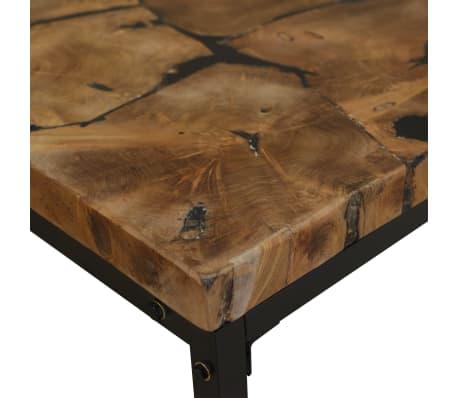 vidaXL Kavos staliukas, tikmedis ir derva, 60x60x40cm[8/11]